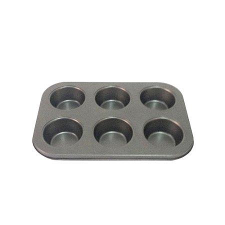 Forma Cupcake Pao De Queijo 6 Cavidades Metal 1122 Gallizzi