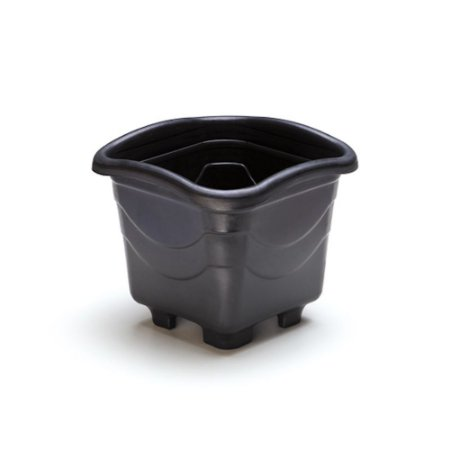 Vaso Plastico Quadrado Medio Preto 5,6 Litros 0454 Injeplastec