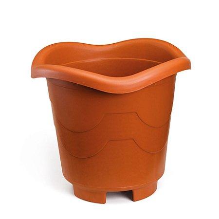 Vaso Plastico Redondo Grande Telha 8 Litros 0940 Injeplastec