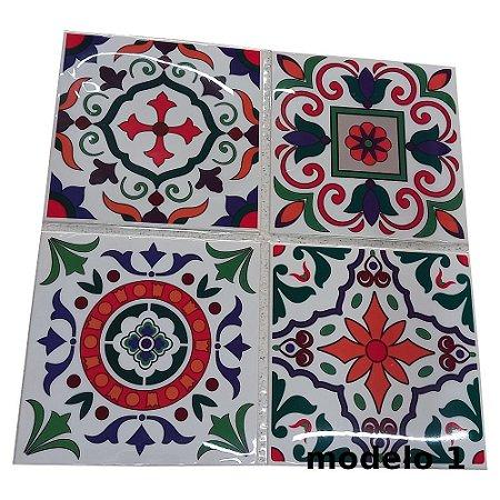 Adesivos de azulejo 3d mosaico 13x13cm 4 peças por kit chile 0905
