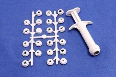 Kit Extrusora Com 22 Pecas Plastico P/ Biscuit 0662 Gallizzi