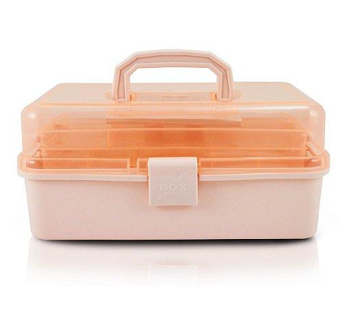 Caixa Organizadora Transparente salmão alx17185 Jacki Design
