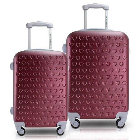 Conjunto de malas abs de viagem P G Love Jacki Design Vinho