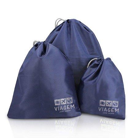 Bolsas Organizadoras de Malas P M G Jacki Design Azul