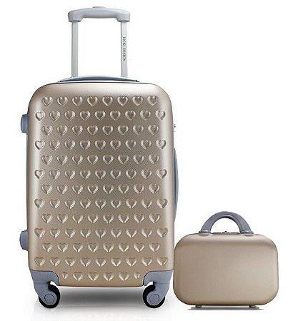 Conj. de mala de bordo com frasqueira de Viagem Jacki Design
