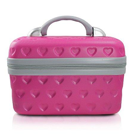 Frasqueira Love Pink Jacki Design Ideal para Maquiagem