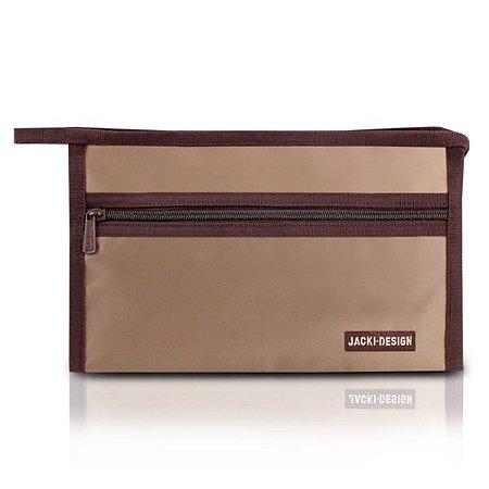 Necessaire envelope pequena Essencial Jacki Design Marrom