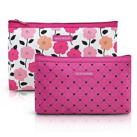 Kit Necessaire 2 peças Jacki Design Pink Lover Pink