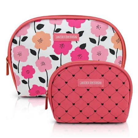 Kit 2 Necessaires Meia Lua Jacki Design Pink Lover Salmão