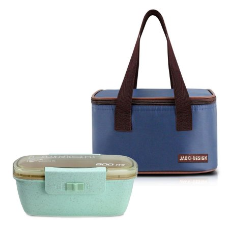 Bolsa térmica essencial azul com marmita ecologica dupla