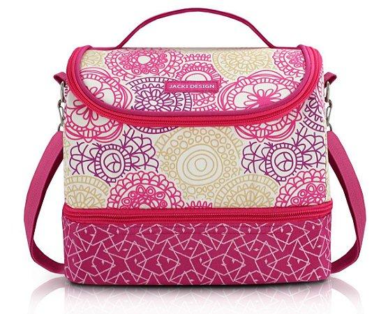 Bolsa Térmica dupla my lolla pink Jacki Design floral