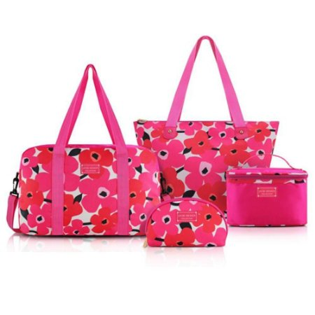 Conjunto de viagem 4 peças Jacki Design Papoula Pink