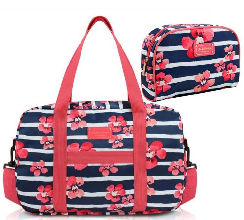 Bolsa de viagem com necessaire azul florida Jacki Design