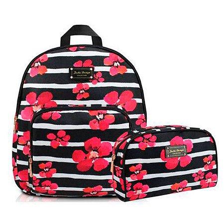 kit mochila com necessaire Bossanova - Jacki Design