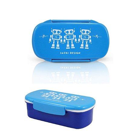 Pote para Lanche Sapeka Jacki Design Robô Azul