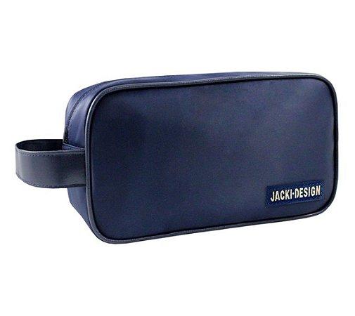 Necessaire masculina com alça lateral Jacki Design Azul