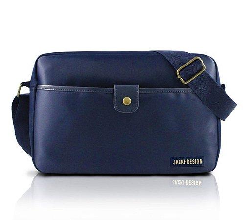 Bolsa transversal masculina pequena azul Jacki Design
