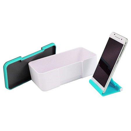 Marmita 650ml com Porta Celular Jacki Design Azul