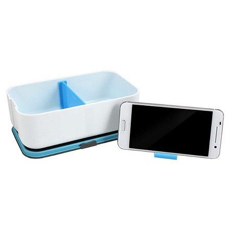 Marmita 800ml com Porta Celular Jacki Design Azul