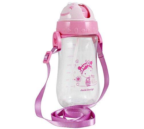 Garrafa Squeeze Pequeninos 480ml Jacki Design Hello Rosa