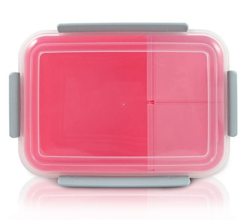 Marmita com 3 compartimentos 1200ml Rosa Jacki Design