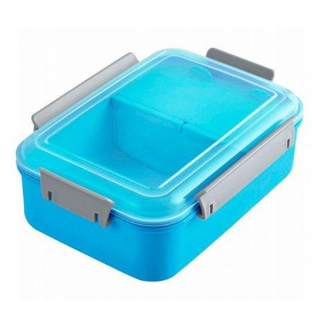 Marmita com 3 compartimentos 1200 ml azul Jacki Design