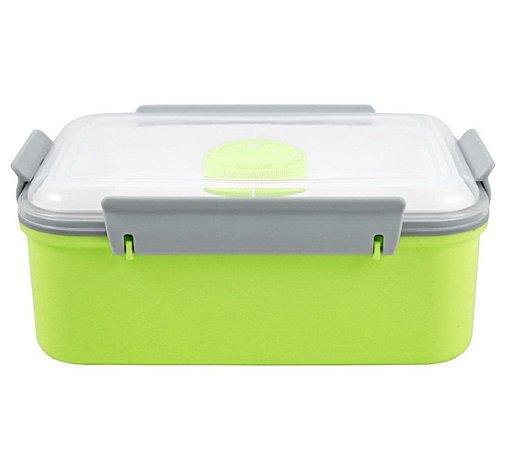 Pote Marmita com 3 compartimentos 1400 ml Verde