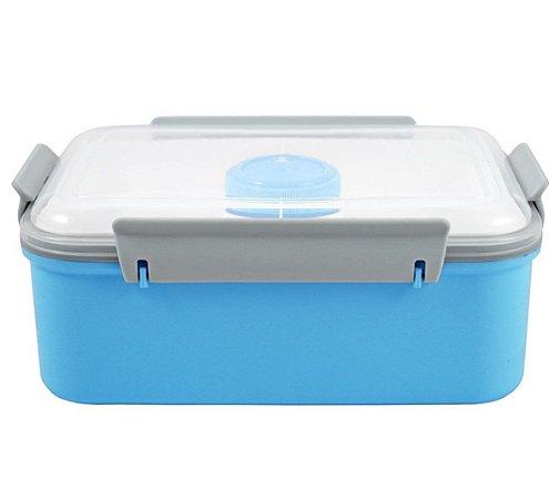 Pote Marmita com 3 compartimentos 1400ml Azul Jacki Design