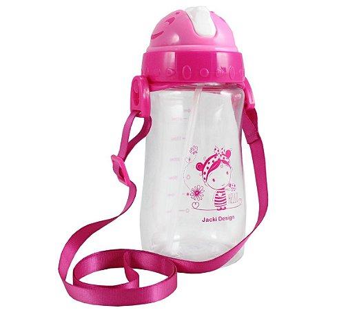 Garrafa Squeeze Pequeninos 480ml Jacki Design Hello Pink