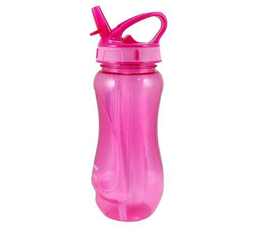 Squeeze com Canudo Retrátil Pink 500ml Jacki Design