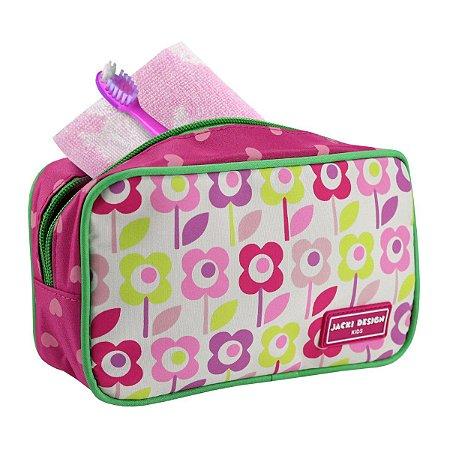 Necessaire Infantil Jacki Design Sapeka Flor pink
