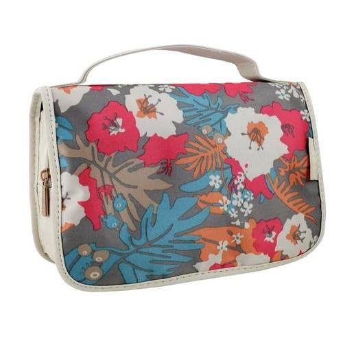 Necessaire Viagem Floral Bege Abc17203 Jacki Design