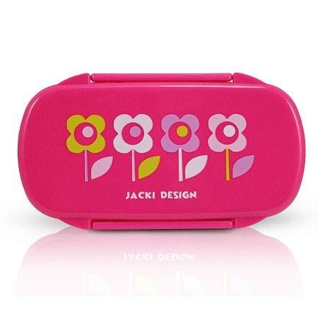 Pote para Lanche Sapeka Jacki Design Flor Pink