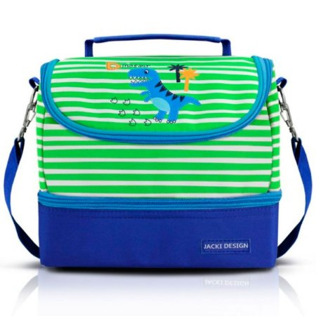 Lancheira Térmica Infantil dino verde Pequenino Jacki Design