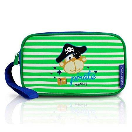 Estojo Escolar Infantil Masculino macoco pirata Jacki Design