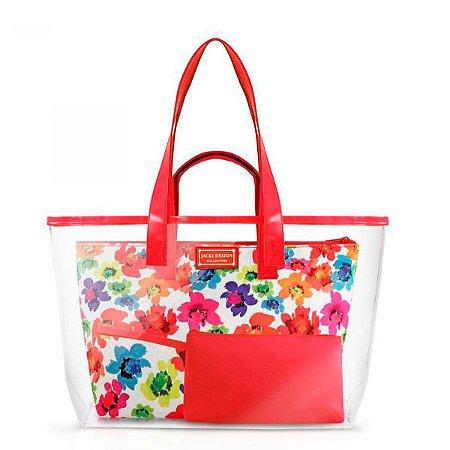 Kit De Bolsa 3 Em 1 de praia aquarela vermelho Jacki Design