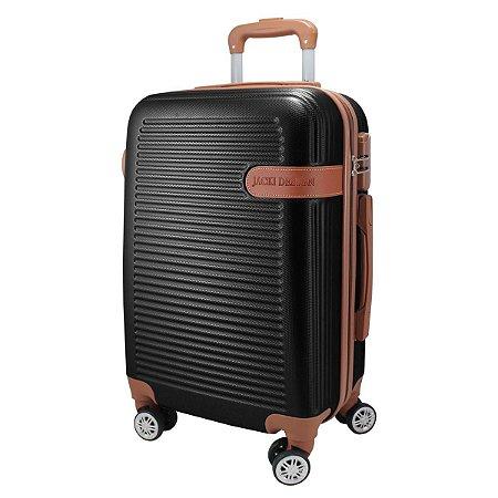 Mala de Viagem de Bordo Premium Preta Giro 360 jacki Design