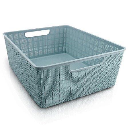 Mini cesto Organizador Cozy G azul Com Alça Jacki Design