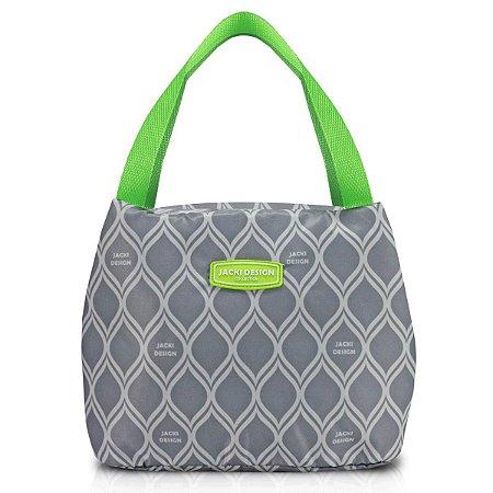 Bolsa lancheira Térmica de mão M Fresh Cinza Jacki Design