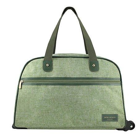 Bolsa de Viagem com Rodas e alça de mão e ombro BeYou Verde