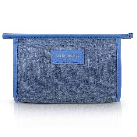 Necessaire Envelope Be You Em Poliéster Azul Jacki Design