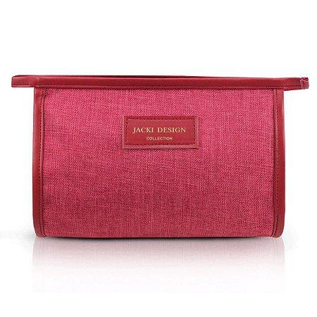 Necessaire Envelope BeYou Em Poliéster Vermelho Jacki Design