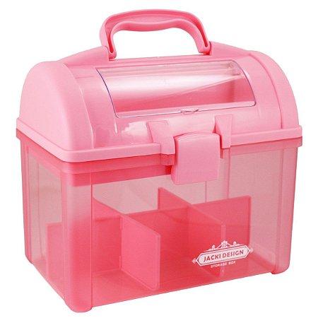 Caixa Organizadora Transparente Organizadores Plástico Pink