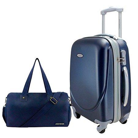 Mala P Giro 360° Select c/ Bolsa de Viagem Azul Jacki Design