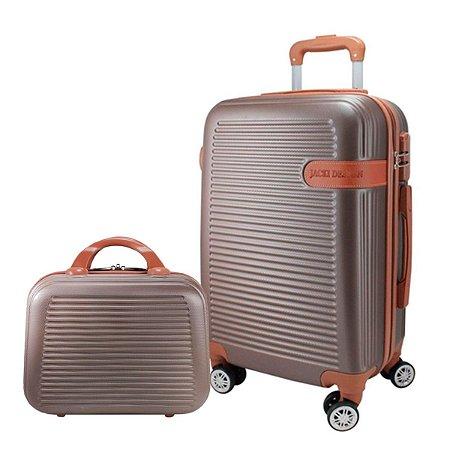 Mala P Giro 360° e Frasqueira Bronze Premium Jacki Design