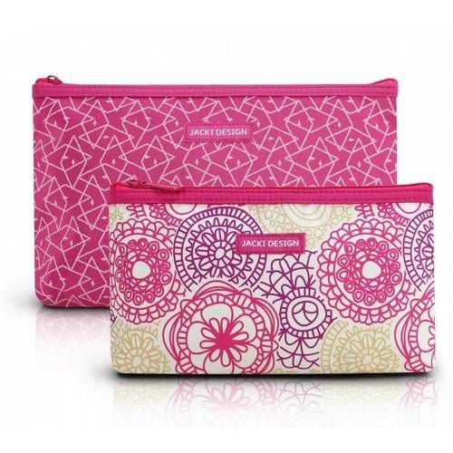 Kit de Necessaire pink com 2 Peças Jacki Design