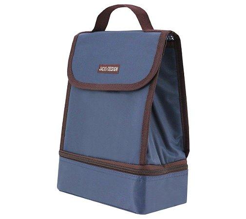 Bolsa Térmica 2 Compartimentos  Fitness azul Jacki Design