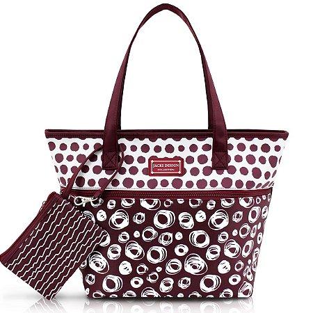 Bolsa Feminina Casual Niqueleira Pop vinho Jacki Design