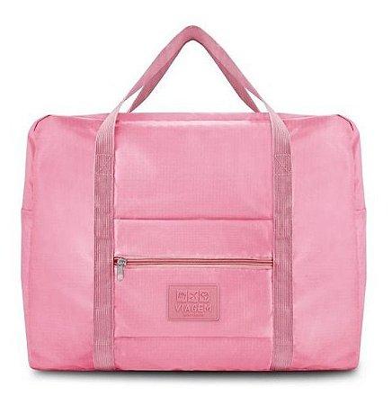 Bolsa De Viagem Dobrável Gg Para Viagem rosa Jacki Design