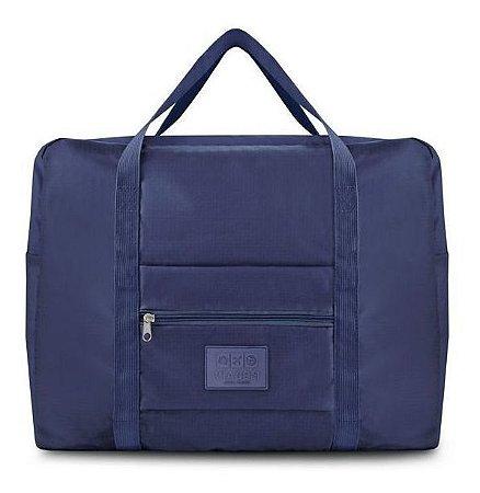 Bolsa De Viagem Dobrável Gg Para Viagem azul Jacki Design